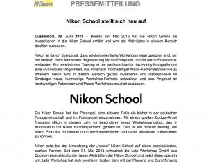 Die Nikon-School stellt sich neu auf
