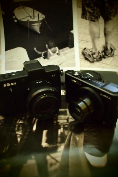 Nikon 1 V1 und Lumix LF1